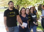 Victimes and Family of Victimes at Second Court Appearance of James Holmes