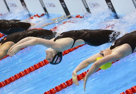 Missy Franklin from Team USA won the gold medal in women's 100-meter backstroke at the 2012 Olympic Games
