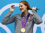Missy Franklin Posing With Her Gold Medal