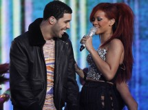 "Rihanna and Drake perform at last year's NBA All-Star game. Both singers topped the list of nominees for the 2012 MTV Video Music Awards with five nominations each including ""Video of the Year"" for Ri"