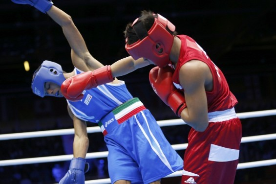 Mark Barriga knocks out Italy's Manuel Cappai in the London Olympic Games