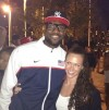 Lauren Perdue and Lebron James