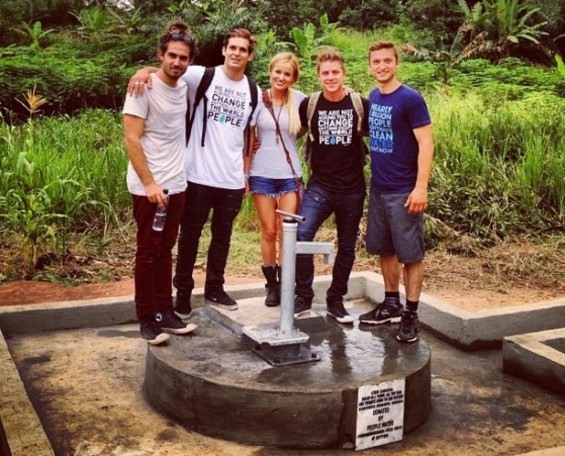 "Emily Maynard, Jef Holm from ""The Bachelorette"" in Africa with Cody and Bronson from People Water."