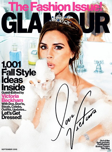 Victoria Beckham on the cover of Glamour September 2012 issue.