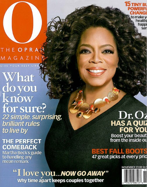 Oprah in 2008's November Cover.