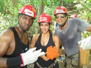 Kanye West, Kim Kardashian With Joe Francis