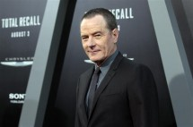 "Cast member Bryan Cranston poses at the premiere of ""Total Recall"" at the Grauman's Chinese theatre in Hollywood, California August 1, 2012. The movie opens in the U.S. on August 3."