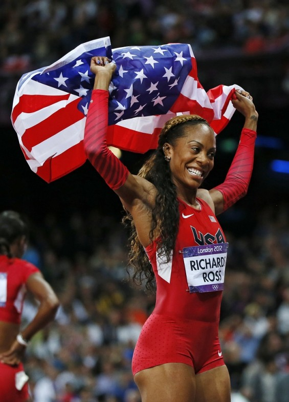 Sanya Richards-Ross takes home the gold in the women's 400-meter 2012 Olympic finals