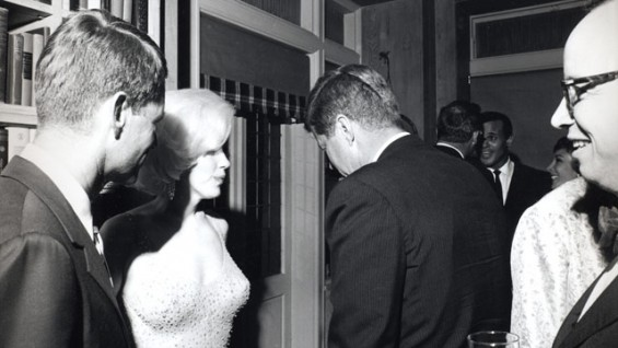 Marilyn Monroe and JFK in 1962