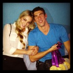 Megan Rossee with Michael Phelps