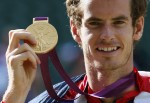 Andy Murray, pictured above after capturing the gold at the 2012 London Olympics