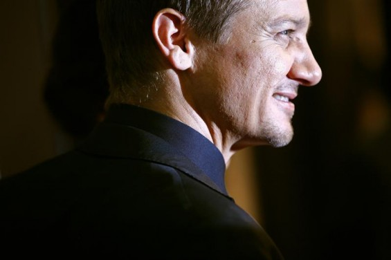 "Cast member Jeremy Renner attends the premiere of the film ""The Bourne Legacy"" in New York July 30, 2012."