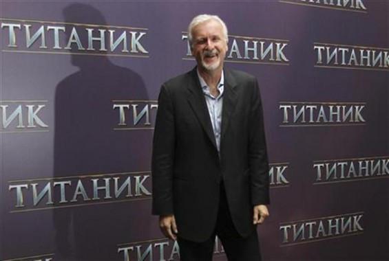 U.S. film director James Cameron poses for a photograph during a presentation for the media in Moscow March 29, 2012.