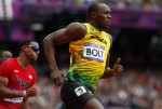 Usain Bolt runs for Olympic gold