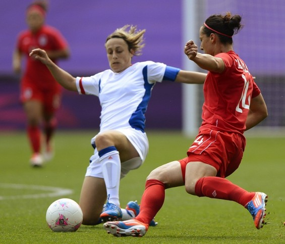 Team Canada wins the women&#039;s soccer bronze match