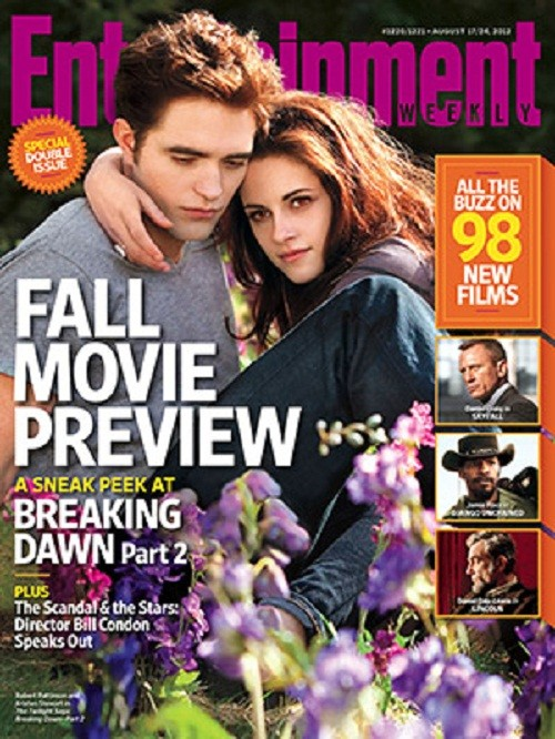 "Kristen Stewart and Robert Pattinson on the cover of ""Entertainment Weekly"""