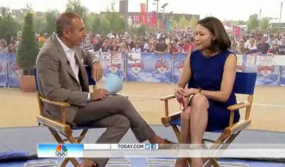 "Matt Lauer and Ann Curry reunited August 9 on the ""Today"" show amid rumored tensions between the former co-anchors since she was fired from the show for low ratings."