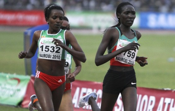 Ethiopia's Tirunesh Dibaba runs for the gold in the Olympic Games
