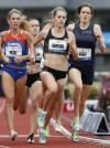 Women running in the 1500-meter U.S. Olympics trials