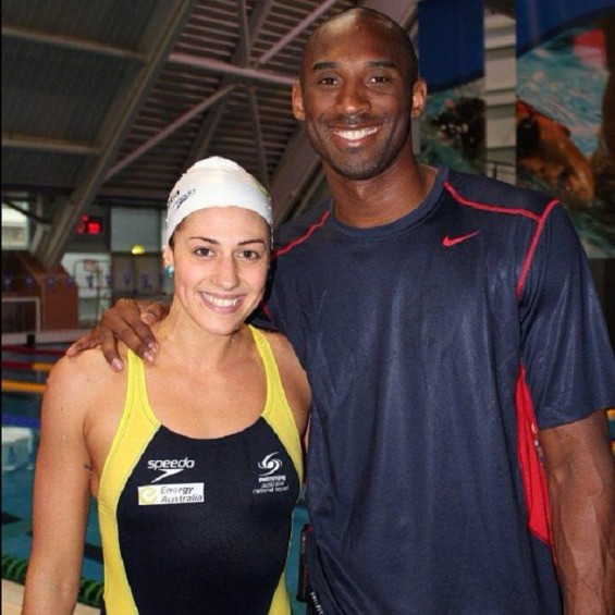 Olympic Australian swimmer Stephanie Rice and Kobe Bryant.