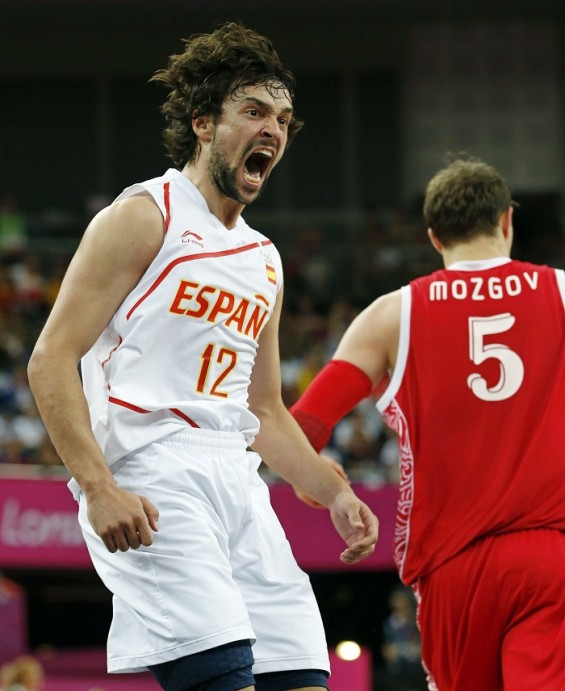 Spain secures a spot in the men&#039;s basketball finals at the London Olympics after beating Russia 67-59