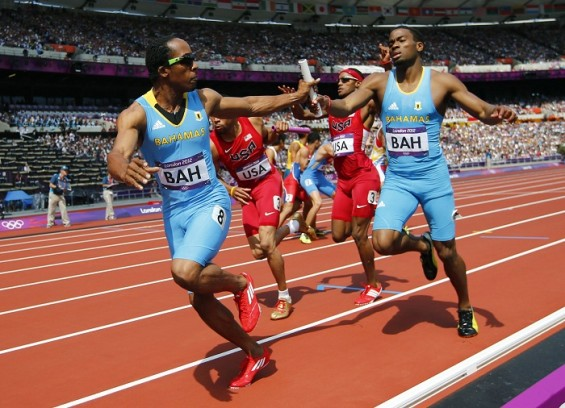 The men's 4x400 relay finals at the Olympic Games