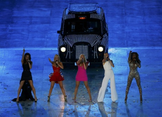 The Spice Girls perform during the closing ceremony of the London 2012 Olympic Games at the Olympic stadium August 12, 2012.