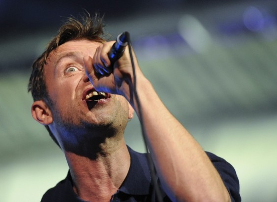 Damon Albarn from British band Blur performs as part of the London 2012 Olympic Games closing celebrations at Hyde Park, London, August 12 , 2012.  