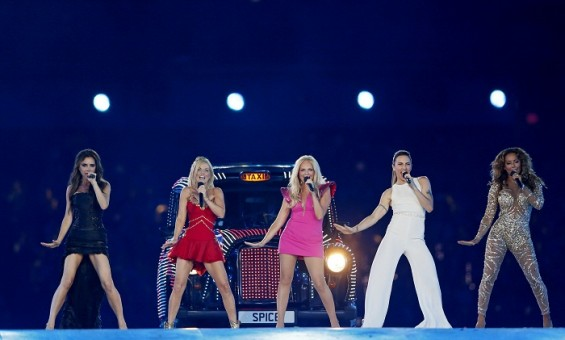 Spice Girls reunite for the Olympics closing ceremony