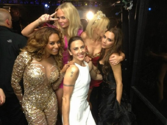 Victoria Beckham tweets, &#034;@victoriabeckham: &#039;We did it!! I love u girls so much!!!!! xxx vb&#039;&#034; following the Spice Girls reunion performance at the Olympics closing ceremony. Read more at http://www.ms