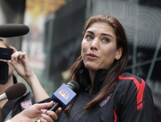 Hope Solo on the &#034;Today&#034; show