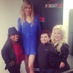 Brandi Glanville with the 'Little Women: LA' cast