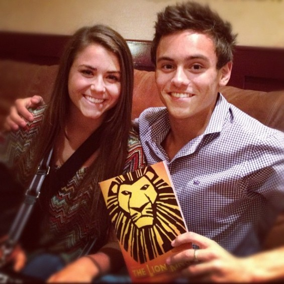 Kassidy Cook and Tom Daley