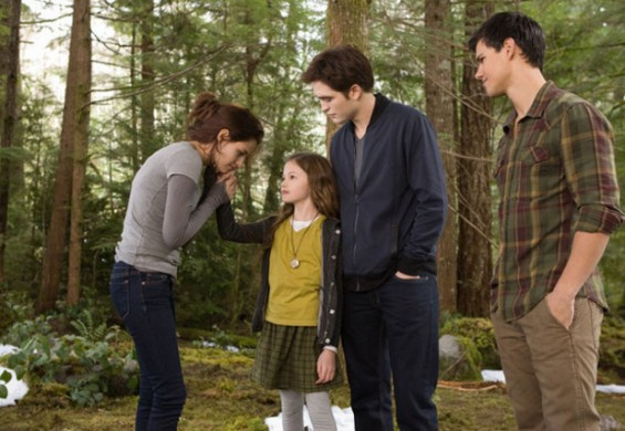 Bella, Edward, Renesmee and Jacob