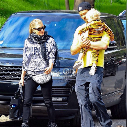 Fergie, Josh DUhamel & Their son, Axl