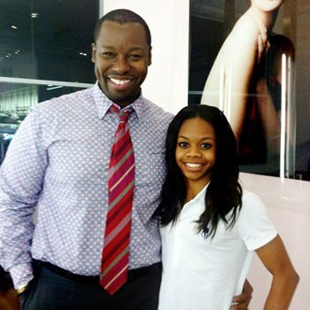 Celebrity hairstylist Ted Gibson with Gabby Douglas