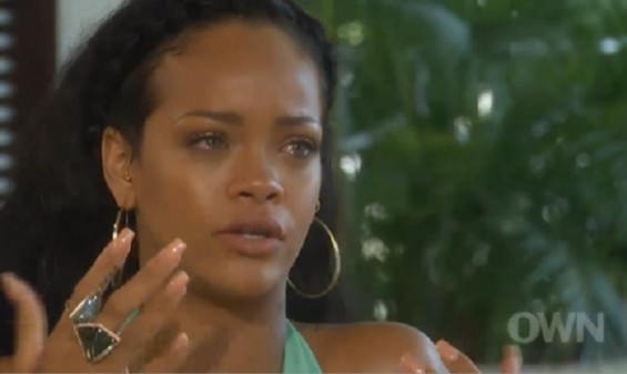 Rihanna appeared to have moved on. But when asked about the incident by Oprah, the singer broke down.