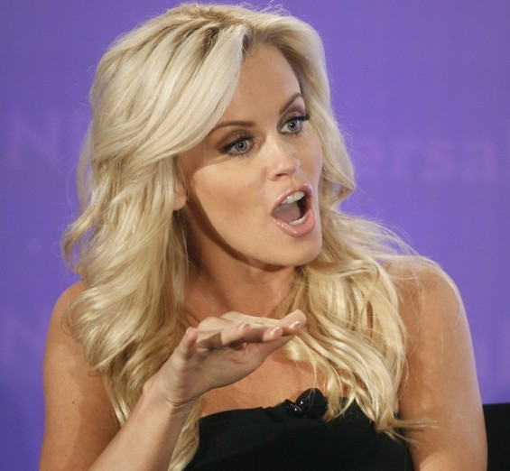 "Actress Jenny McCarthy, host of the new reality series ""Love in the Wild"" takes part in a panel discussion at the NBC Universal Summer Press Day 2012 introducing new television shows for the Summer se"