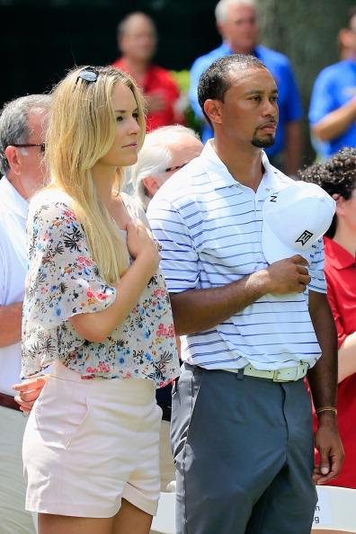 Tiger Woods Lindsey Vo...