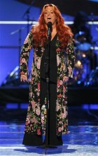 "Singer Wynonna Judd performs during the taping of the 2008 ""NCLR Alma"" awards at the Civic Auditorium in Pasadena, California, August 17, 2008."