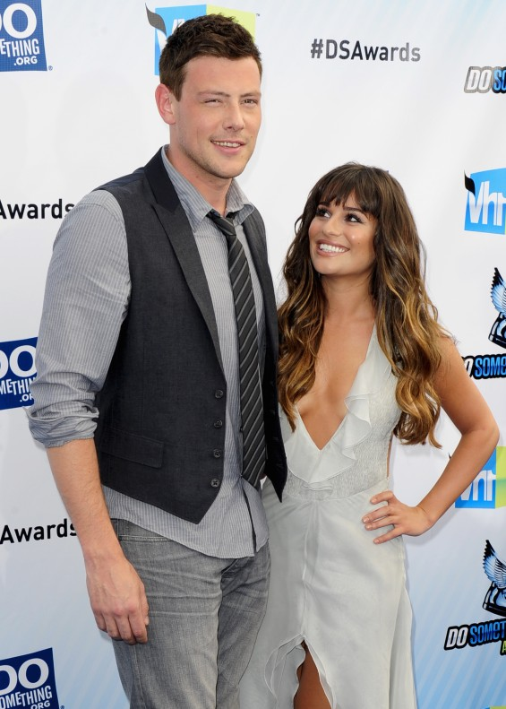 """Glee"" star Corey Monteith and Leah Michele"