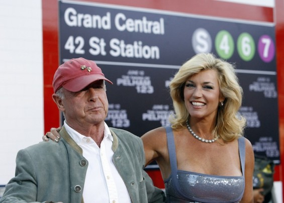 "Director of the movie Tony Scott and his wife Donna attend the premiere of the movie ""The Taking of Pelham 1 2 3"" at the Mann Village theatre in Los Angeles in 2009"