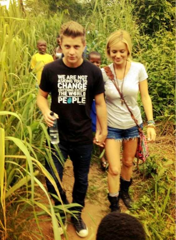 Emily Maynard and Jef Holm in Africa.