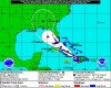 Tropical Storm Isaac&#039;s path on Friday August 24,2012 according to the National Hurricane Center.