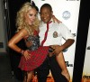 "Kyle Massey poses with his former ""DWTS"" partner and professional dancer Lacey Shwimmer"