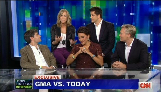 The cast of Good Morning America in an interview with Piers Morgan on CNN uploaded August 23 to the web.
