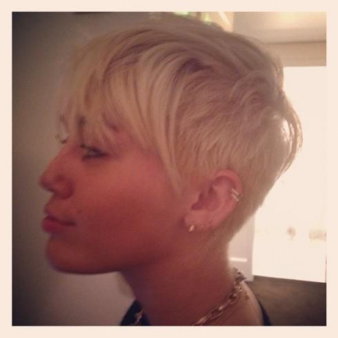 Miley Cyrus' new haircut