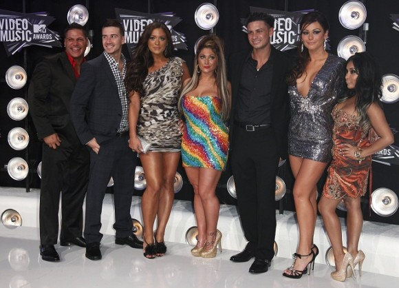 "The cast of the ""Jersey Shore"""