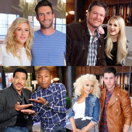 'The Voice' Season 8 Coaches With Battle Round Advisors