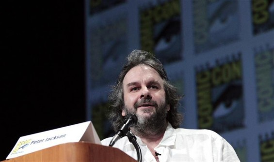 "Director Peter Jackson speaks during a panel for ""The Hobbit: An Unexpected Journey"" during the Comic Con International convention in San Diego, California July 14, 2012."
